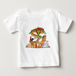 T-shirt Pour Bébé Chacun des 12 animaux chinois de zodiaque ensemble