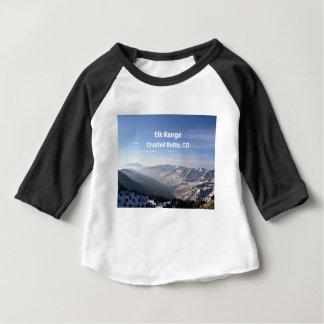 T-shirt Pour Bébé Chaîne d'élans, butte crêtée, Co