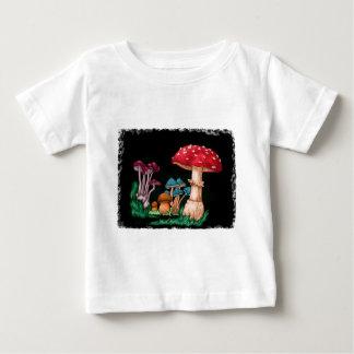 T-shirt Pour Bébé Champignons