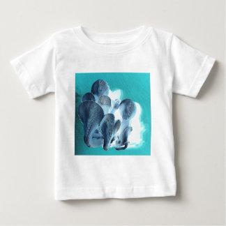 T-shirt Pour Bébé Champignons d'huître dans le bleu