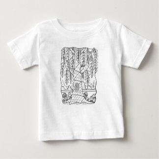 T-shirt Pour Bébé Champignons fantastiques de saule de forêt