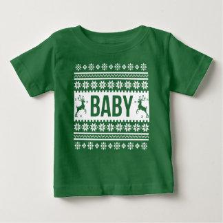 T-shirt Pour Bébé Chandail laid de Noël de chemise de bébé