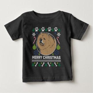 T-shirt Pour Bébé Chandail laid de Noël de race de chien de bouffe