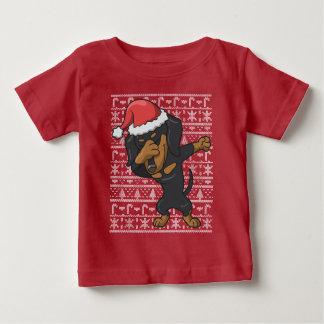 T-shirt Pour Bébé Chandail laid tamponnant de Noël de teckel