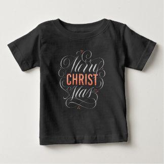 T-shirt Pour Bébé Chapiteau de tableau de Joyeux Noël religieux