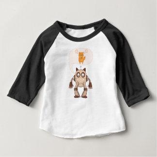 T-shirt Pour Bébé Chat au néon fâché drôle avec le contrôleur de