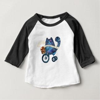 T-shirt Pour Bébé chat cosmique sur le vélo