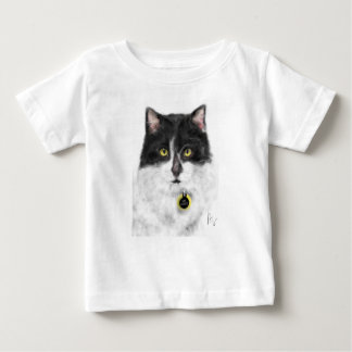 T-shirt Pour Bébé Chat noir et blanc
