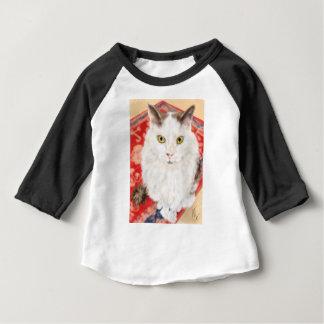 T-shirt Pour Bébé Chat persan sur un tapis de Perse rouge