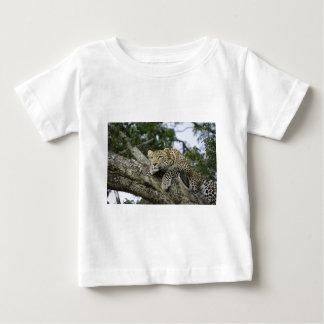 T-shirt Pour Bébé Chat sauvage animal de safari de l'Afrique d'arbre