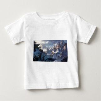 T-shirt Pour Bébé Château sur la montagne