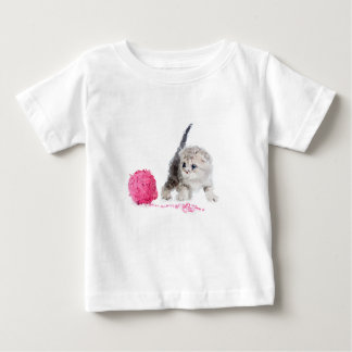 T-shirt Pour Bébé Chaton drôle adorable mignon low poly