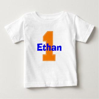 T-shirt Pour Bébé Chemise d'anniversaire d'orange de point de Faux
