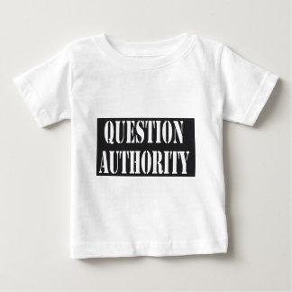 T-shirt Pour Bébé Chemise d'autorité de question