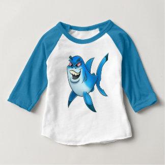 T-shirt Pour Bébé Chemise de bande dessinée de semaine de requin