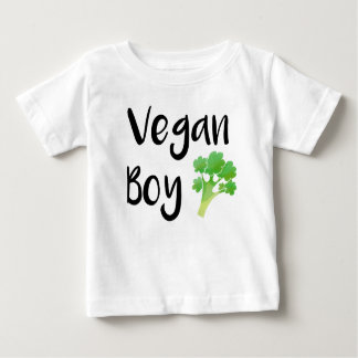 """T-shirt Pour Bébé Chemise de bébé de brocoli """"de garçon végétalien"""""""