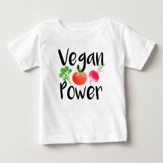 """T-shirt Pour Bébé Chemise de bébé """"de puissance végétalienne"""""""