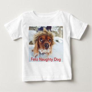 T-shirt Pour Bébé Chemise de chien de Noël de photo intitulée par