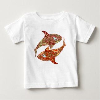 T-shirt Pour Bébé Chemise de childs de baleines d'amour