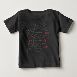 T-shirt Pour Bébé Chemise de inspiration de la citation | d'amour et