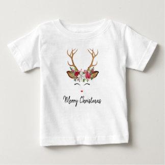 T-shirt Pour Bébé Chemise de Noël de renne