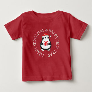 T-shirt Pour Bébé Chemise de pingouin de Joyeux Noël et de bonne