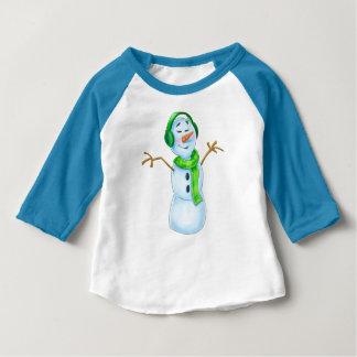 T-shirt Pour Bébé chemise mignonne de bonhommes de neige de bande