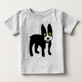 T-shirt Pour Bébé Chemise mignonne de Boston Terrier de bande