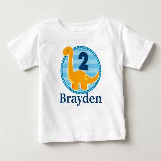 T-shirt Pour Bébé Chemise orange d'anniversaire de dinosaure pour