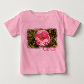 T-shirt Pour Bébé Chemise rose de bébé de fleur du Colorado