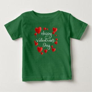 T-shirt Pour Bébé Chemise rouge de la heureuse Sainte-Valentin   de