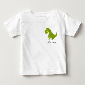 T-shirt Pour Bébé Chemise sauvage, amusement et drôle de T-Rex de