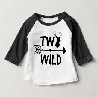 T-shirt Pour Bébé Chemise sauvage et 2ème d'anniversaire de deux