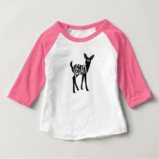 T-shirt Pour Bébé Chemise végétalienne de cerfs communs