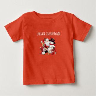 T-shirt Pour Bébé CHEMISETTE HEUREUX NAVIDAD.FashionFC