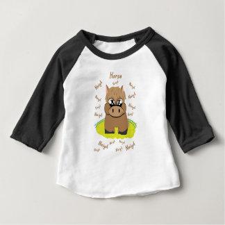T-shirt Pour Bébé cheval