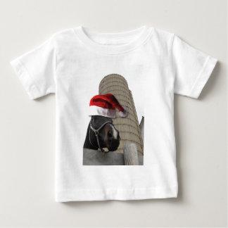 T-shirt Pour Bébé Cheval avec le casquette de Père Noël