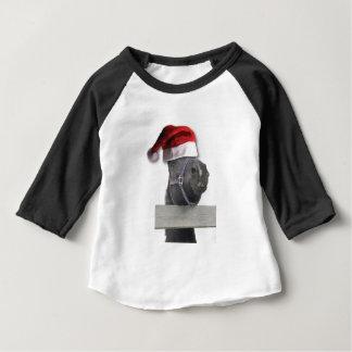 T-shirt Pour Bébé Cheval avec un casquette de Père Noël