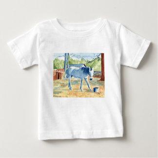 T-shirt Pour Bébé Cheval bleu