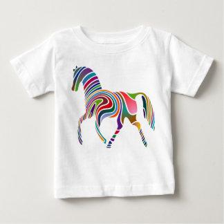 T-shirt Pour Bébé Cheval d'arc-en-ciel