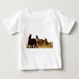 T-shirt Pour Bébé cheval de lasso de cowboy