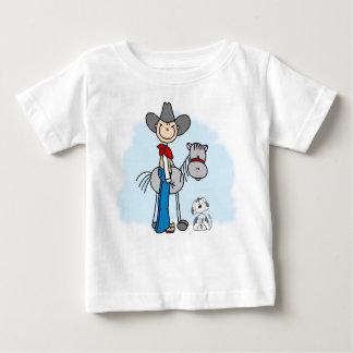 T-shirt Pour Bébé Cheval du cowboy N de bâton