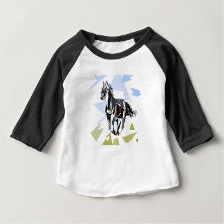 T-shirt Pour Bébé Cheval noir