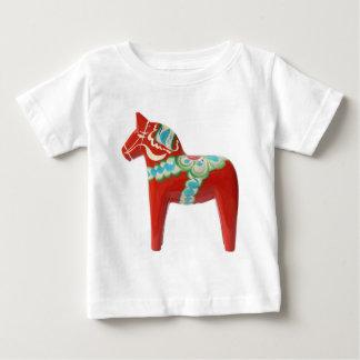T-shirt Pour Bébé Cheval rouge de Dala de Suédois