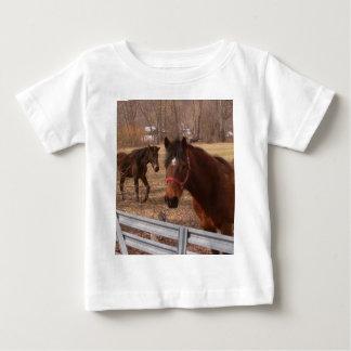 T-shirt Pour Bébé Chevaux de Brown