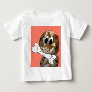 T-shirt Pour Bébé chien avec l'os