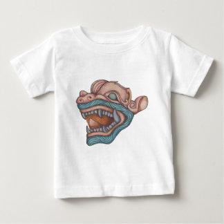 T-shirt Pour Bébé Chien de dragon (rose en pastel et bleu)