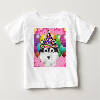 T-shirt Pour Bébé Chien de partie de Malamute d'Alaska