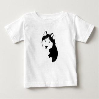 T-shirt Pour Bébé Chien de traîneau sibérien