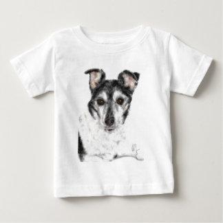 T-shirt Pour Bébé Chien noir et blanc